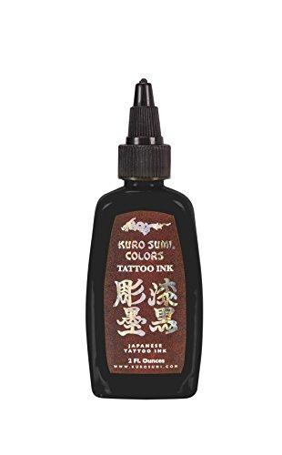 Kuro Sumi Tattoo Ink, Double Sumi Tribal Black, 2 Ounce