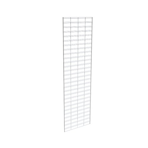 Econoco Commerical Slatgrid Panels, 2' Width x 7' Height, White (Pack of 3)