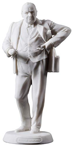 JFSM INC Sir Winston Churchill Smoking Cigar Statue Sculpture - British Prime Minister