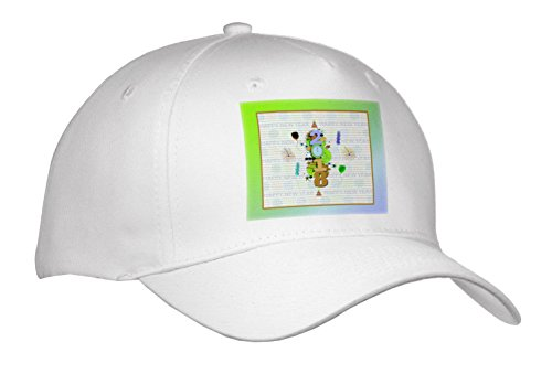 3dRose Beverly Turner New Years Design - 2018, Fireworks, Clock, Hats, Balloons, dollies, New Year, Green - Caps - Adult Baseball Cap - Visor Dolly