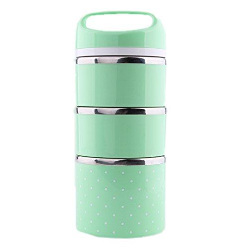 Ospard Stainless Steel Insulated Lunch Box 43 Ounces Green SH-24