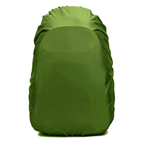 Frelaxy Waterproof Backpack Rain Cover (15-90L), Upgraded Vertical Buckle Strap & Silver Coated, Rainproof Storage Pouch Included, Perfect for Hiking, Camping (Army Green, S (for 15L-25L Backpack)) by Frelaxy (Image #1)