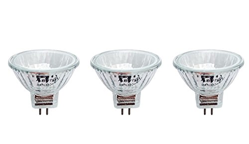 Anyray A1868Y (3-Bulbs) Clear MR11 12Volt 10Watt Precision Halogen Reflector Light Bulb 10W 12V