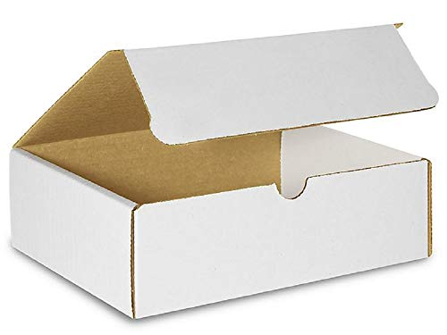 Literature Mailers 11.125 x 8.75 x 2 Corrugated Cardboard Mailers 11 1/8 x 8 3/4 x 2 by Amiff. Pack of 5 box mailers. Easy-Fold. For Printed materials and Books. - Corrugated Cardboard Materials