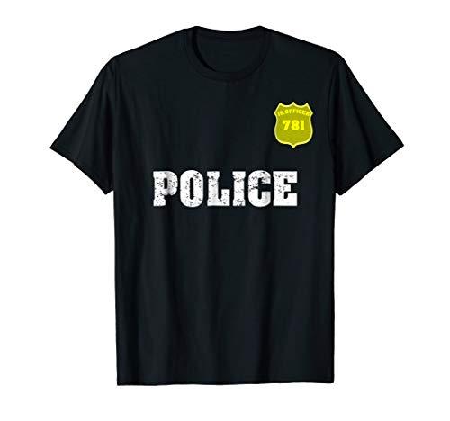 Police T-shirt Officer Halloween shirt for Costume Boys Girl]()