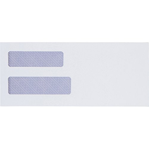 "#10 Double Window Envelopes - 550 Per Box - SELF SEAL - Security Envelopes - Designed for Business Statements, QuickBooks Invoices, and Legal Documents - Peel & Seal - 4 1/8"" x 9 1/2"" - 24 LB"