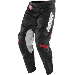 [MSR Legend 71 Pants - 30 Waist/Black/White] (70s Era Clothing)