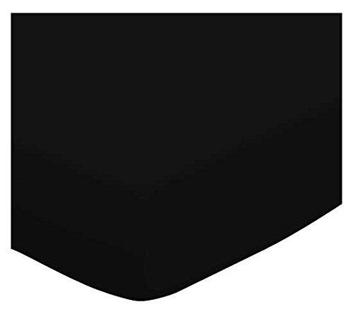 SheetWorld Crib / Toddler Sheet - Solid Black Jersey Knit...
