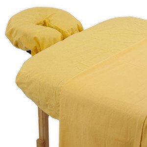 Massage Sheet Set (True Premium Cotton Flannel Massage Table Sheet 3 Pc Set (I Just Smiled))