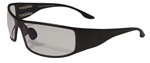 Fugitive Aluminum Tactical and Motorcycle Sunglass, ANSI Z87.1 Impact Protection USA (Black, Transition ()