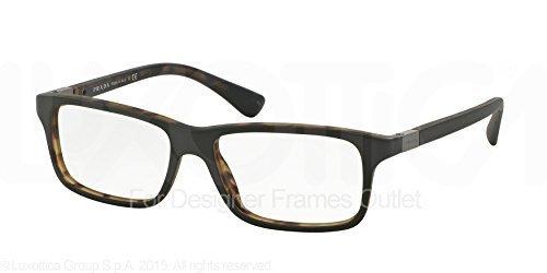 51a6aece17 PRADA Eyeglasses PR 06SV UBF1O1 Green Matte Tortoise 56MM at Amazon ...