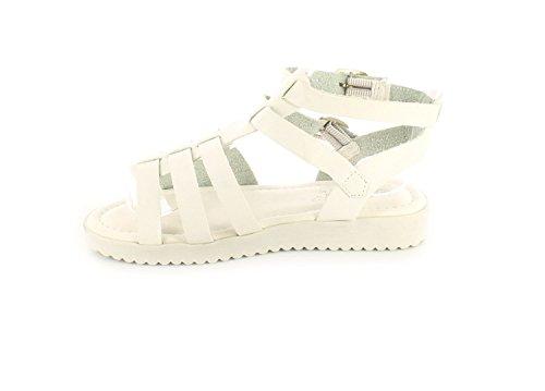 Fille/Enfant Blanc Gladiator ornements Style boucle de serrage-Blanc-Tailles : 2,5