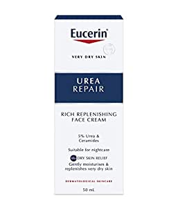 Eucerin Dry Skin Replenishing Face Cream Night 5% Urea With Lactate 50Ml
