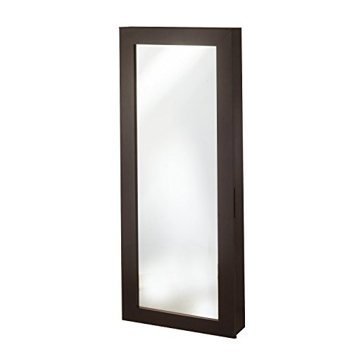 Space Saver Wall - InnerSpace Luxury Products Space Saver Mirrored Jewelry Armoire, Espresso