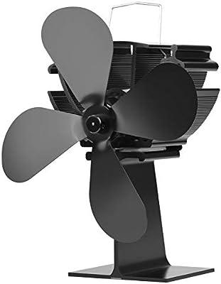 KUANGQIANWEI Estufas de leña 4 paletas del Ventilador Estufa térmica Silencio de Ahorro de energía ecológica leña Ventilador Original: Amazon.es: Hogar