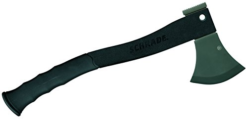Schrade SCAXE2L 15.7in Large Survival Axe with 4.2in Stainless Steel Blade and Glass Fiber PA & TPR Rubber Handle for Outdoor Survival Camping and Everyday Carry