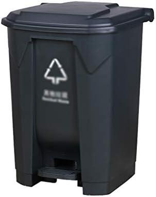 滑らかな表面 カバーソートのごみ箱ホテルストリートガーデンコミュニティビジネスごみ箱を持つ家庭ごみリサイクルビン、プラスチック リサイクル可能なデザイン (Color : G, Size : 38*40*56CM)