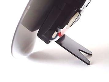 black plastic cd clip on clock stands for quartz movements clock