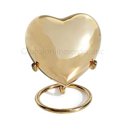 Classic Gold Coloured Heart Keepsake