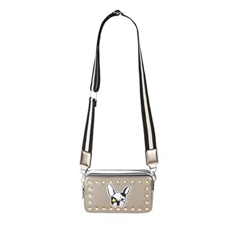 Bari Lynn Girls Box Bag Clutch (Purse) (Crossbody Bag, Bulldog) ()