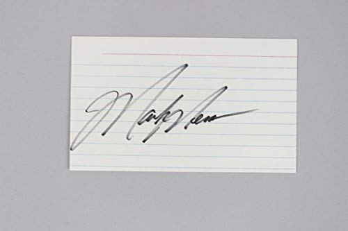 Mark Messier Autographed Signed Index Card Oilers - Coa Jsa
