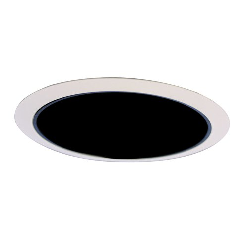 All-Pro 426MB 6-Inch Trim Reflector Cone, White Trim with Specular Black Reflector Cone