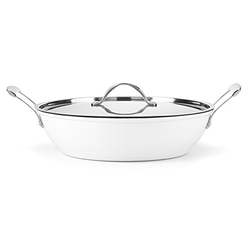 Food & Wine For Gorham Light Cast Iron 4 Quart Braiser, White by Food & Wine Collection for Gorham
