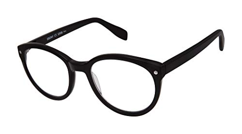 Ebony Court - 100% Recycled - Round Eco-Friendly Fashion Reading Glasses for Men and Women - Onyx Black (+1.25 Magnification Power)