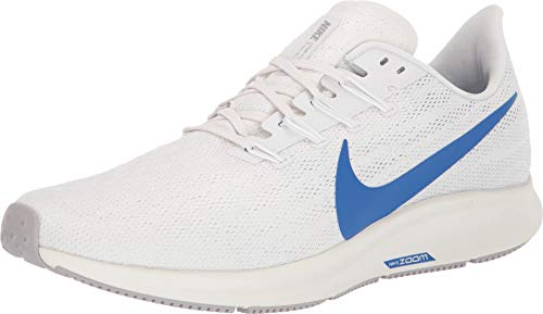 Nike Air Zoom Pegasus 36 Mens Sneakers AQ2203-005, Platinum Tint/Game Royal-White-Sail, Size US 11.5