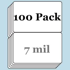 7 Mil Butterfly Pouch Laminates (Gloss) - 100 Pack