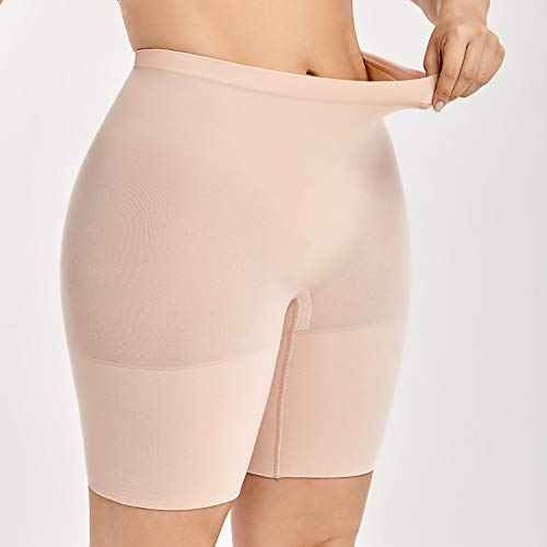566071be78bc DELIMIRA Women's Plus Size Tummy Control Panties Thigh Slimmer Shapewear  Shorts