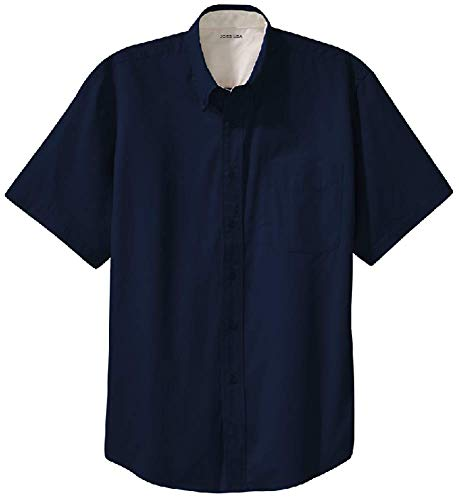 - Joe's USA - Men's Short Sleeve Wrinkle Resistant Easy Care Shirts-2XL