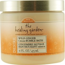 The Healing Garden Cream Bubble Bath - Wild Ginger: 16 OZ