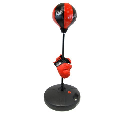 Pro Kid Boxer Children's Beginning Freestanding Reflex Punching Bag w/ Pair of Gloves, Adjustable Height 35 - 50'' by Toy Boxing Sets