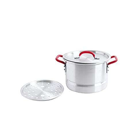 Oster Cocina 111884.02 Pamona Tamale Steamer Pot, 12 quart, Stainless Steel - Clam Steamer Pot
