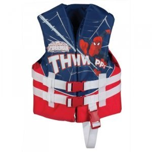 Spider Man Water Sports Vest (UL & U.S. CG Approved Marvel Spider-Man 30-50 lbs Child's Life Vest With Full Adjustable Straps And 3 Quick-Release Buckles)