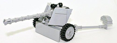 (Modern Brick Warfare WW2 German 7.5cm PAK 40 Anti-Tank Gun Custom Kit)