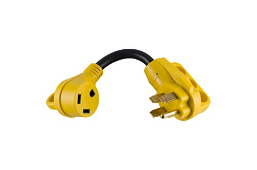 MaxxHaul 80709 Dogbone RV/Electrical Adapter 50 Male to 30 Amp Female with Handle for Easy Removal ()