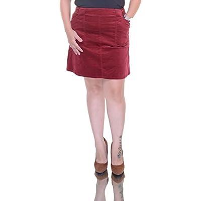 Cheap Maison Jules Womens Velvet Corduroy Mini Skirt Red 12