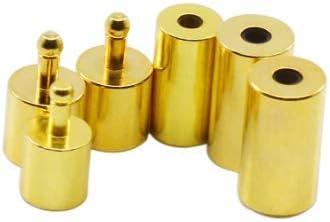 Fiyuer kettenverschluss 40 Pcs magnetische schmuck verschl/üsse magnetverschluss karabiner Verschluss Schnur endkappen f/ür Lederband Schmuckherstellung Gold Silber 4 mm