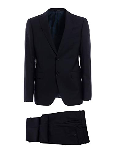Emporio Armani Men's 11Vmgb11633921 Blue Wool Suit