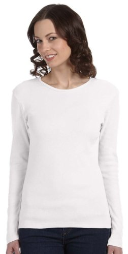 aby Rib Long-Sleeve Crew Neck T-Shirt (B5001) -DEEP HEATH -L (1x1 Rib Crew Tee)