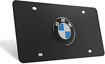 Chrome 3D Front License Plate Covers for BMW All Models A for BMW Stainless Steel License Plate Frame N Black