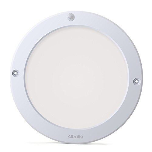 Albrillo Indoor Motion Sensor Light LED Ceiling Lights Flush Mount, for Kitchen Hallway Bathroom, 100 Watt Equivalent, 1200lm, Warm White