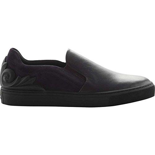 [ヴェルサーチ] メンズ スニーカー Baroque Suede and Leather Slip-on Sneake [並行輸入品] B07DHPHCT5