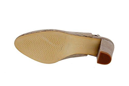 Calzado mujer confort de piel Piesanto 1210 Salón cómodo ancho Visón