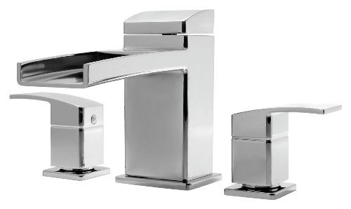 (Pfister RT6-5DFC Kenzo 2-Handle Waterfall Roman Tub Trim in Polished Chrome)
