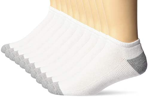 Amazon Essentials Men's 10-Pack Cotton Cushioned Low Cut Socks