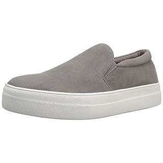 Steve Madden Women's Gills Sneaker, Grey Suede, 9 M US