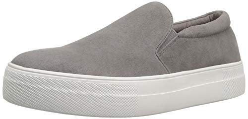 (Steve Madden Women's Gills Fashion Sneaker, Grey Suede, 9 M US)